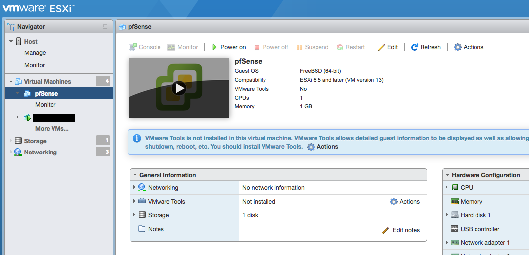 Virtualization — Virtualizing pfSense with VMware vSphere / ESXi