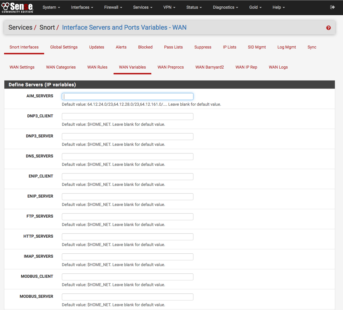 Packages — Configuring the Snort Package | pfSense Documentation