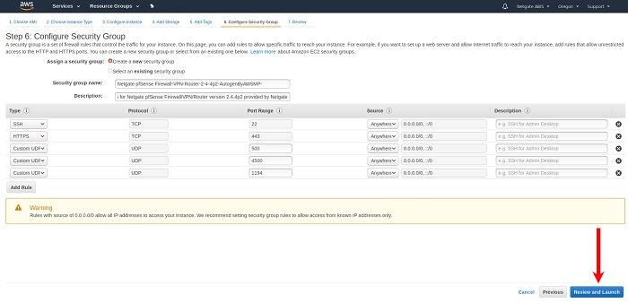 pfSense Firewall/VPN/Router for AWS — Launching an Instance
