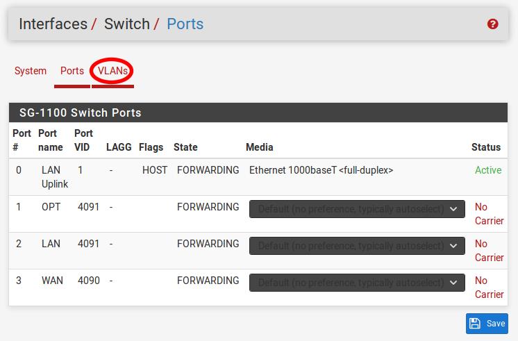 SG-1100 Security Gateway Manual — Router on a Stick | pfSense
